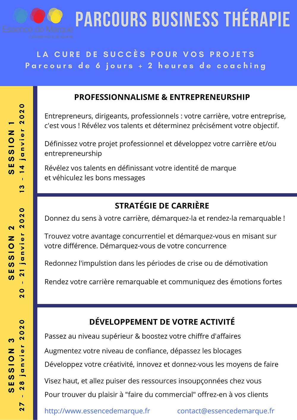 Parcours Business Thérapie by Essence de Marque