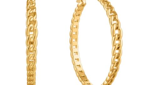 Gold Curb Chain Hoop Earrings Ania Haie
