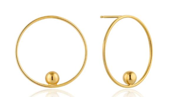 Gold Orbit Front Hoop Earrings Ania Haie