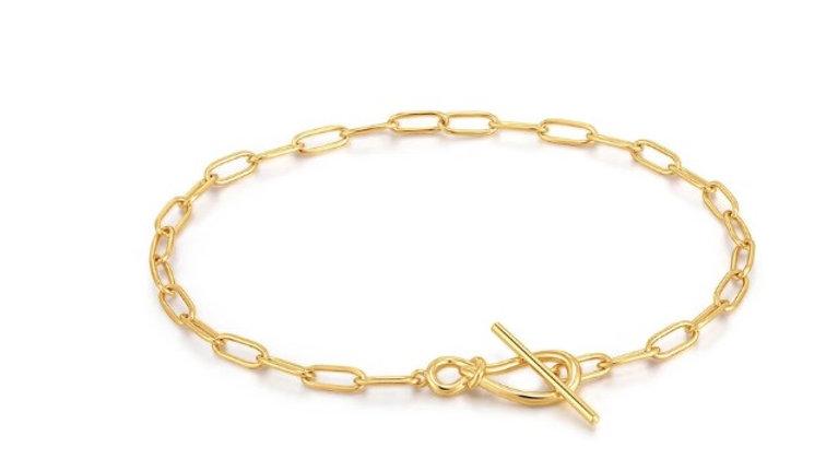 Gold Knot T bar chain bracelet Ania Haie