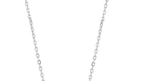 Ania Haie Silver Tidal Turquoise Crescent Link Necklace