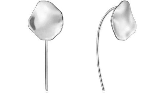 Silver Crush Disc Solid Drop Earrings Ania Haie