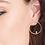 Thumbnail: Gold Orbit Front Hoop Earrings Ania Haie