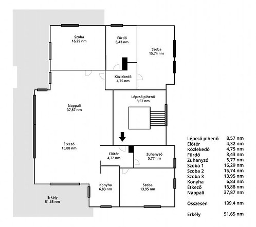 XII. district - 4 bedroom apartment