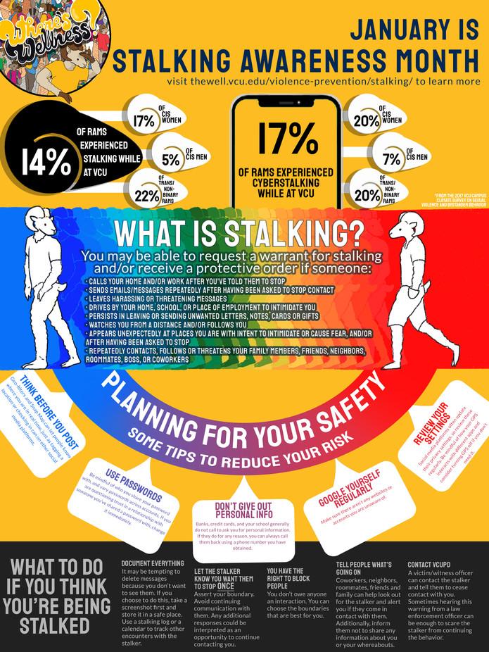 Stalking Awareness Infographic Poster