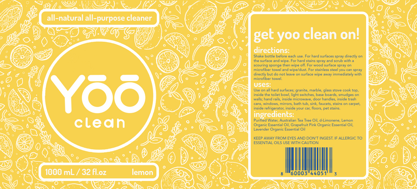 All Purpose Cleaner Label