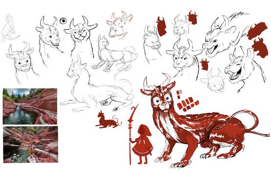 Ori Creature Design Progress Stage