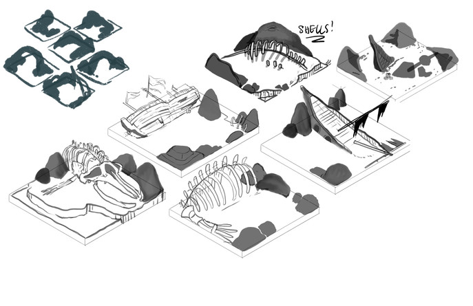 Underwater Environment Initial Sketches