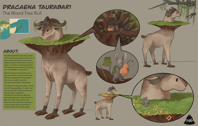Blood Tree Bull Creature Design