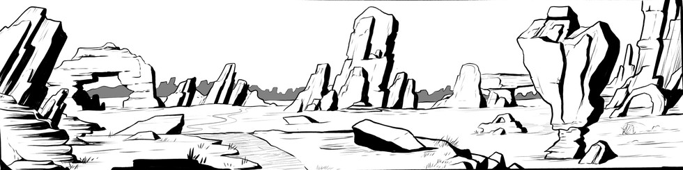 Canyon Environment Location Illustration