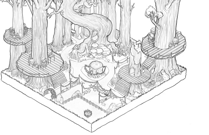 Forest Environment Line Work