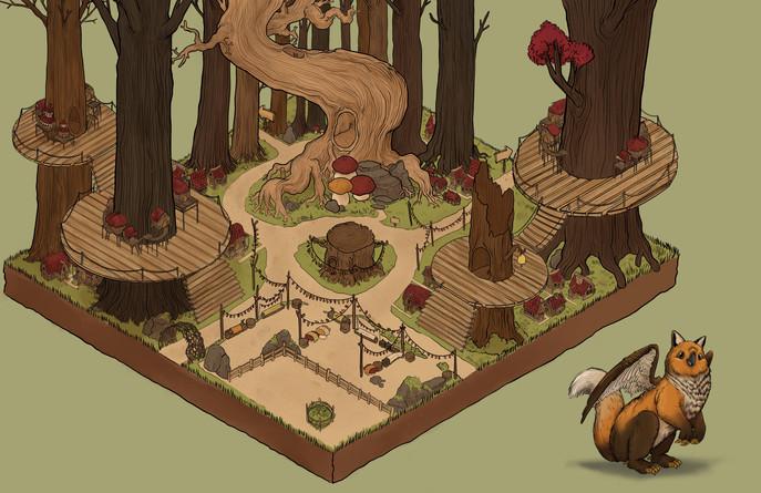 Falcox / Forest Environment Design