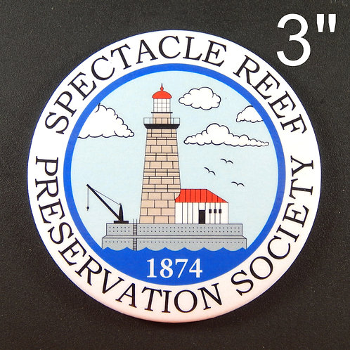 Spectacle Reef PS Button Magnet 3 inch