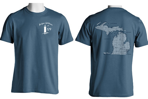 Michigan Lighthouses 129 Two-sided T-shirt