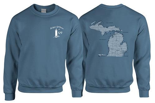 Michigan Lighthouses 129 Two-sided Sweatshirt