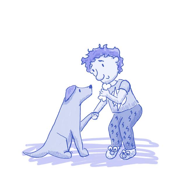 boy anddog