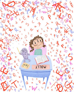 From Molly asks for Help, An ownvoices picture book. Dummy available upon request