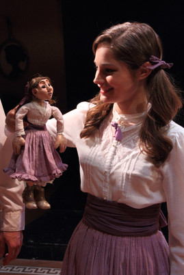 Constructed little puppet costume. The Barrowers, Hope Summer Repertory Theatre