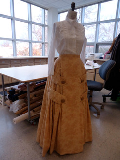 Pattern and Construction of skirt, University of Evansville Theatre