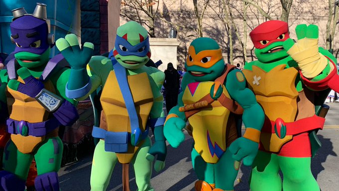 Macy's Day Parade. These were done at Animax. I worked in the Costume Shop for 3 months when they needed extra support and I worked quite a bit on these fellows.