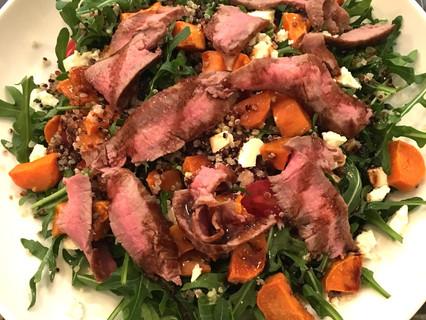My 10 minute Beef Steak Salad Recipe