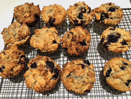 My Flourless Blueberry Coconut Muffins
