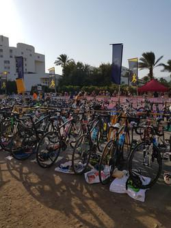 איזור האופניים בתחרות