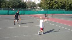 אימון טניס אישי עם מאמן