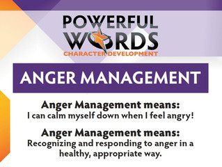"""Anger Management."" I can calm myself down when I feel angry!"