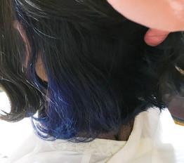 インナーカラー☆ブルー☆