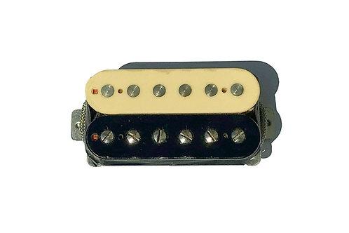 Black/Cream Aged Single Humbucker for Neck or Bridge Position