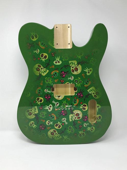 Green Skulls Fabric Boby