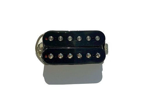 Black/Black Single Humbucker for Neck or Bridge Position