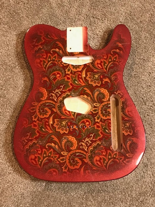 Red Paisley Fabric Body