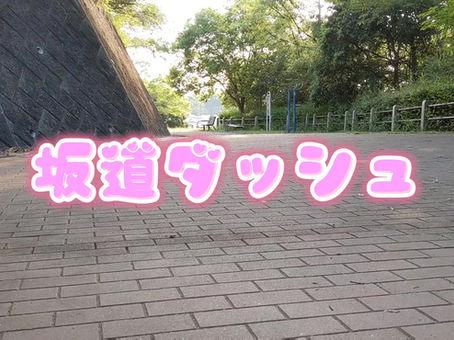 本日の坂道ダッシュ