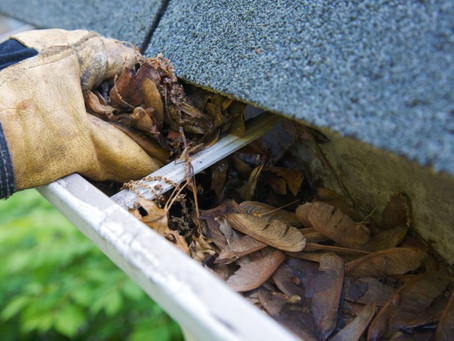 Rainy Weather Ahead! Clogged Rain Gutters = Costly Repairs