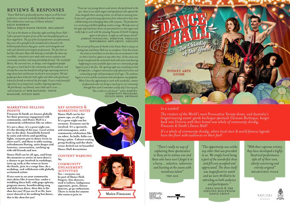 Dance Hall Informaiton Sheet! (Victorian