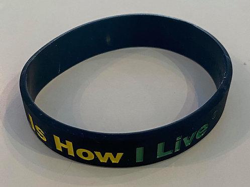 Positive is how I live child bracelet