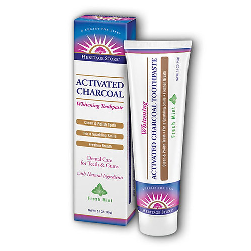 Heritage Store Charcoal Toothpaste 5.1 oz