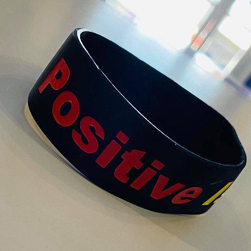 Positive is how I live adult bracelet