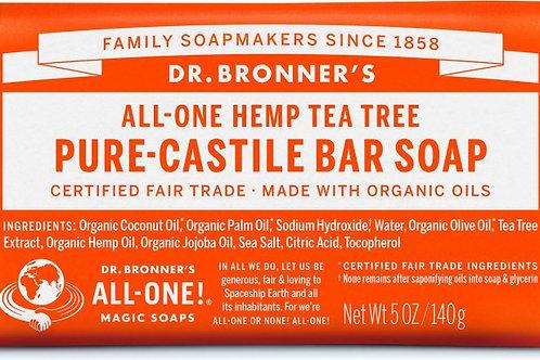 Dr. Bronner's Hemp Tea Tree (bar soap)