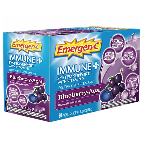 Alacer Blueberry-Acai Immune + System Support with Vitamin D Emergen-C
