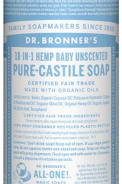 Dr. Bronner's Unscented liquid soap (32oz)