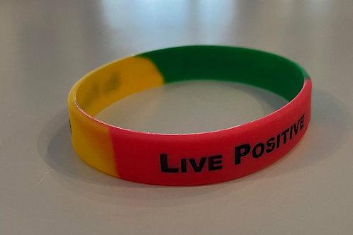 Positive is how I live RGG child bracelet