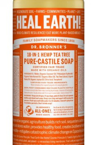 Dr. Bronner's Hemp Tea Tree liquid soap(32oz)