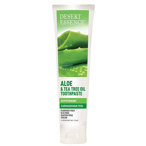 Desert Essence Tea Tree Oil + Aloe Carrageenan Free Toothpaste 6.25 oz.