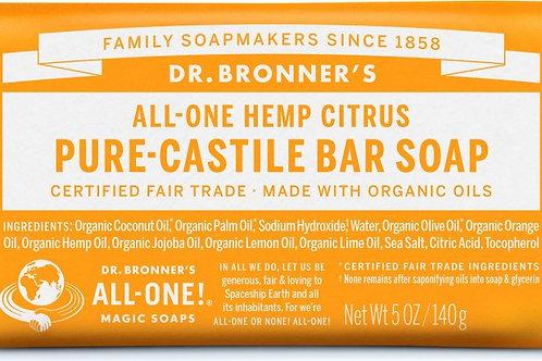 Dr. Bronner's Hemp Citrus (bar soap)