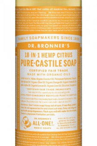 Dr. Bronner's Hemp Citrus liquid soap (32oz)