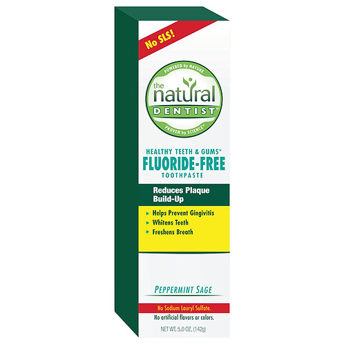 The Natural Dentist Fluoride Free Peppermint Sage Toothpaste