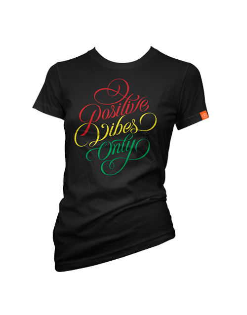 Positive Vibes Only women's tee